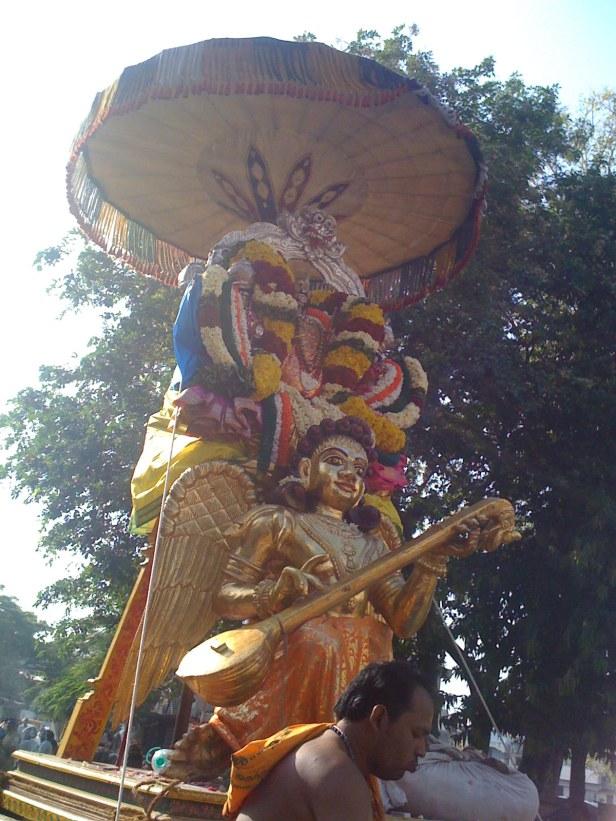 Singaravela of Mylai on Gandharva during Adhikara Nandi sevai