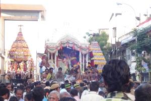 arupattumoovar at kapali temple