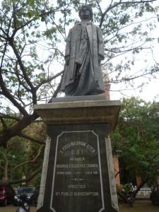 V Krishnaswami Aiyer's statue outside Senate House