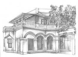 Ekamra Niwas, drawing by Vijaykumar from Historic Residences of Chennai