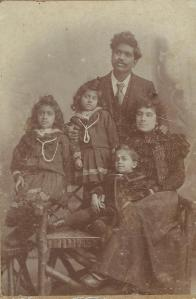 Dr Muthu, wife Margaret and children Dorothy, Cecilia and Bernard