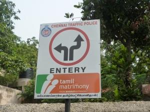 Chennai traffic sign