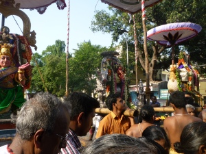Trimurthy from Velleeswarar Koil Mylapore at the Chitra Kulam