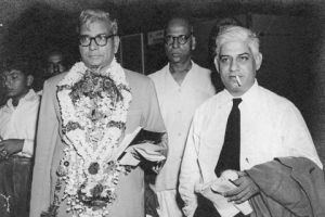 HD Rajah (left) with TS Narayanaswamy, founder of India Cements