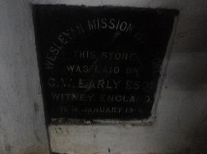 Commemoration plaque, St Luke's, Mylapore