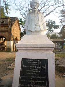 Vedanayagam Pillai's bust, RC graveyard, Mayiladuthurai