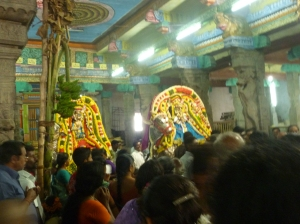 Deities in procession, Kumbhakonam