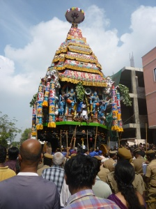 Rear of Kapali ther, Mylapore 2014
