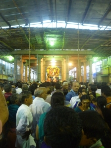 Kapali enters the 16-pillared hall, Adhikara Nandi procession, Mylapore
