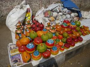 Clay toys on sale, Kapali temple brahmotsavam, 2014