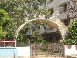 The entrance arch of The Oceanic hotel