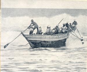 A Masulah Boat off the coast of Madras