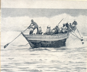 A Masulah Boat off the coast of Madras