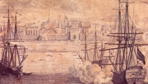 Detail showing the Sea Gate from Scott & Lambert, 1780