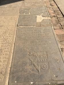 Elizabeth Baker's tombstone - the oldest British inscription in India