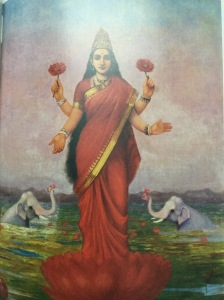 Ravi Varma's first version of Lakshmi