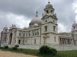 A side view of the Victoria Memorial, Kolkata