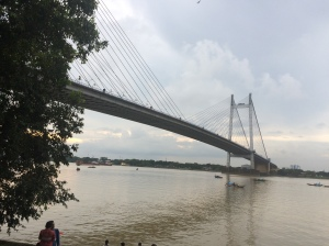 Vidyasagar Setu, as seen from Princep Ghat, Kolkata