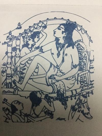 S Rajam's sketch for Muccata Brahmadulaku