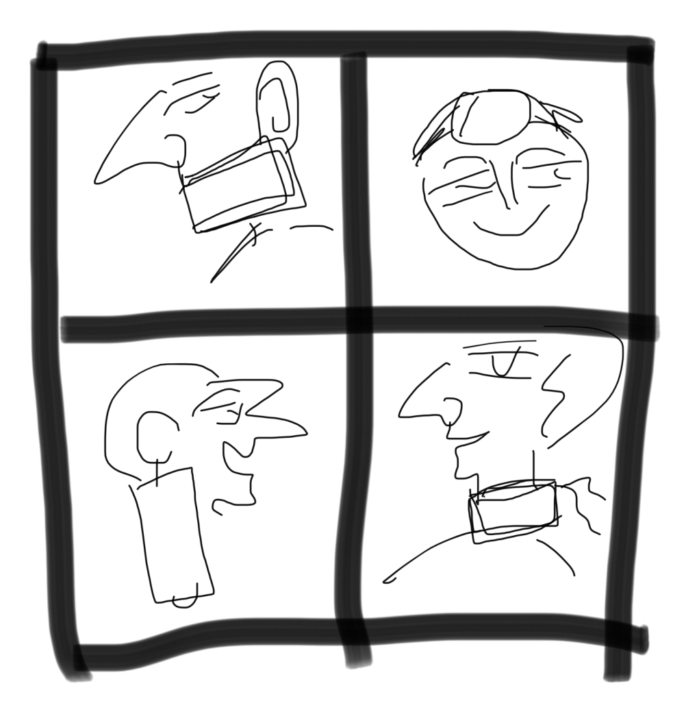 Four wrong ways to wear a mask